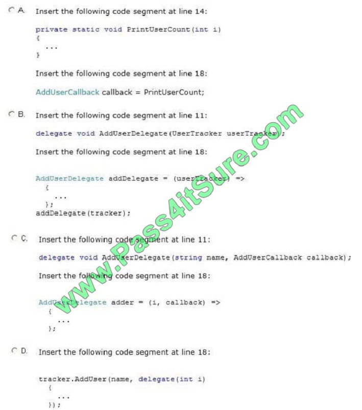 pass4itsure 70-483 exam question q10-1